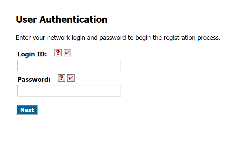Password Registration