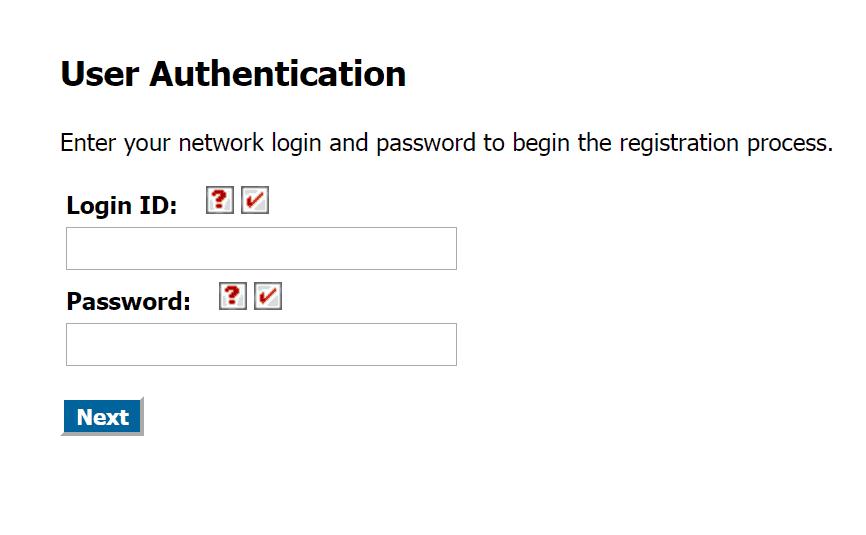 Password Registration