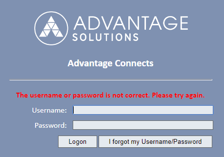 When you enter a wrong password on the login page