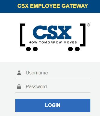 CSX Employee Gateway Login Page