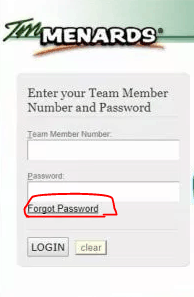 "Locating the option ""forgot password"""