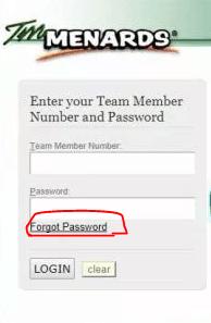 "Locating the option ""forgot password"""