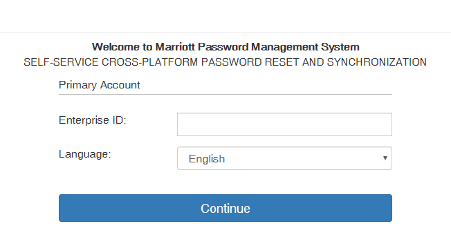 Marriott International Password Challenge