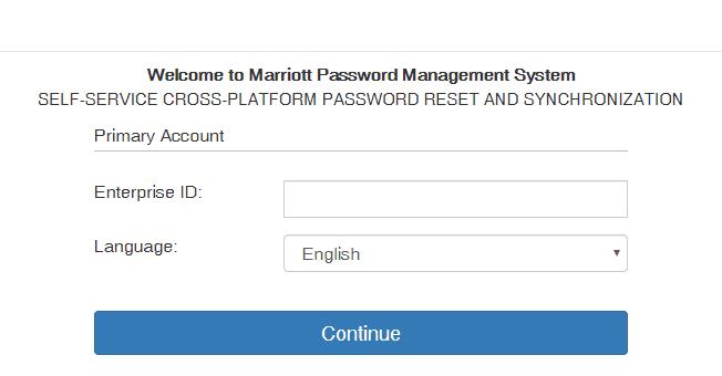 Marriott International Password Challenge