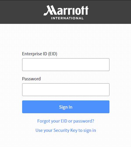 Marriott sign in