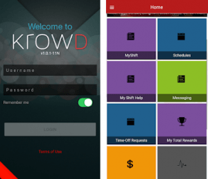 mobile app of KrowD Darden