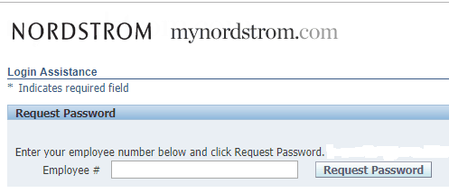 MyNordstorm.com Forgot Password page