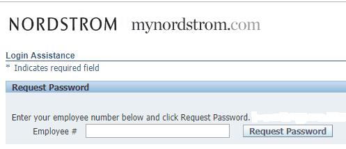 MyNordstorm.com Forgot Password page