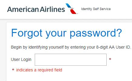 Piedmont Airlines create new password