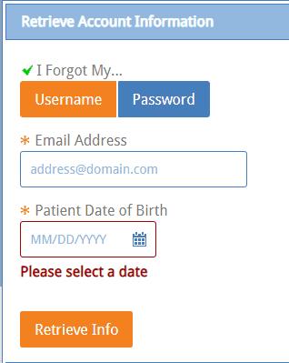 Forgot username?