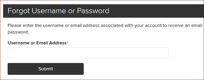 Forgot Your Username?