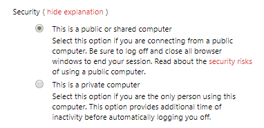 Security Explanations