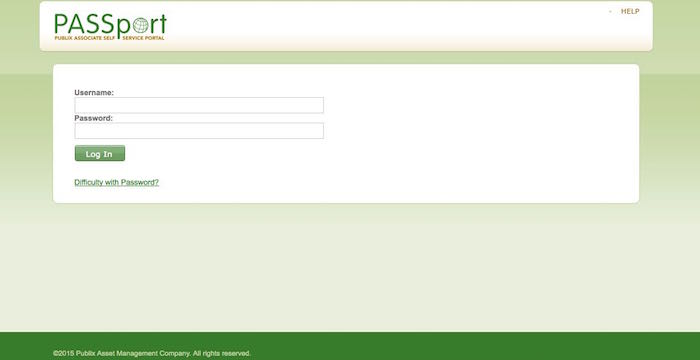 Publix Oasis Employee Login Form