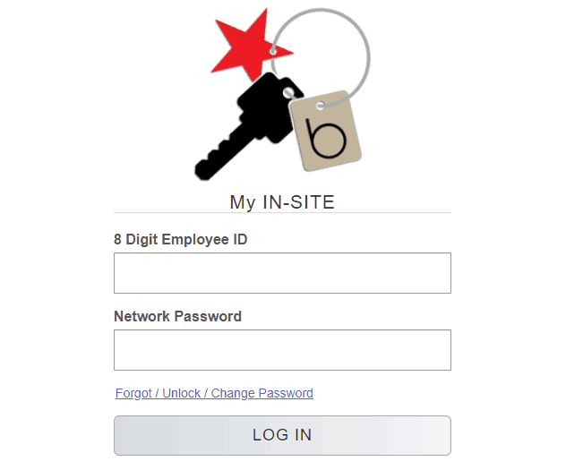 Login form of EmployeeConnection