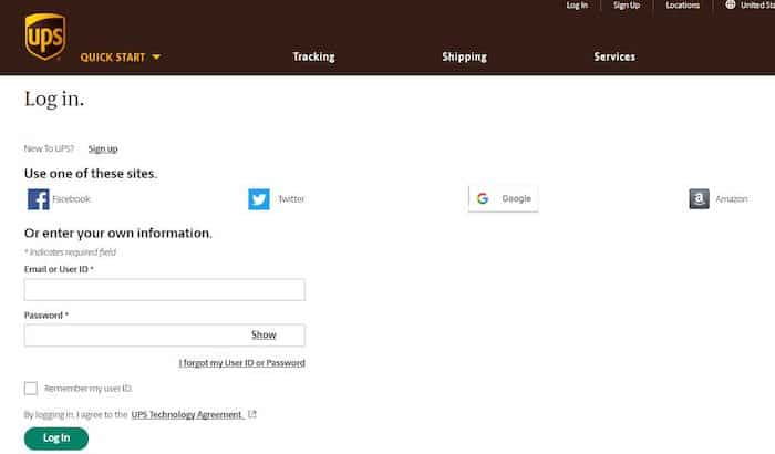 UPSers Login Form
