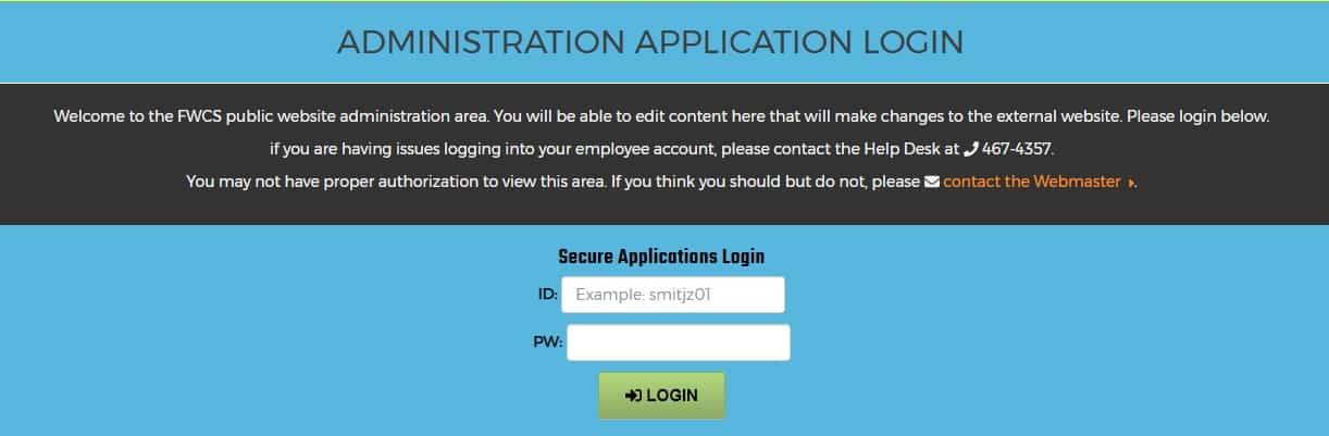 FWCS Webmail Login Portal - Login